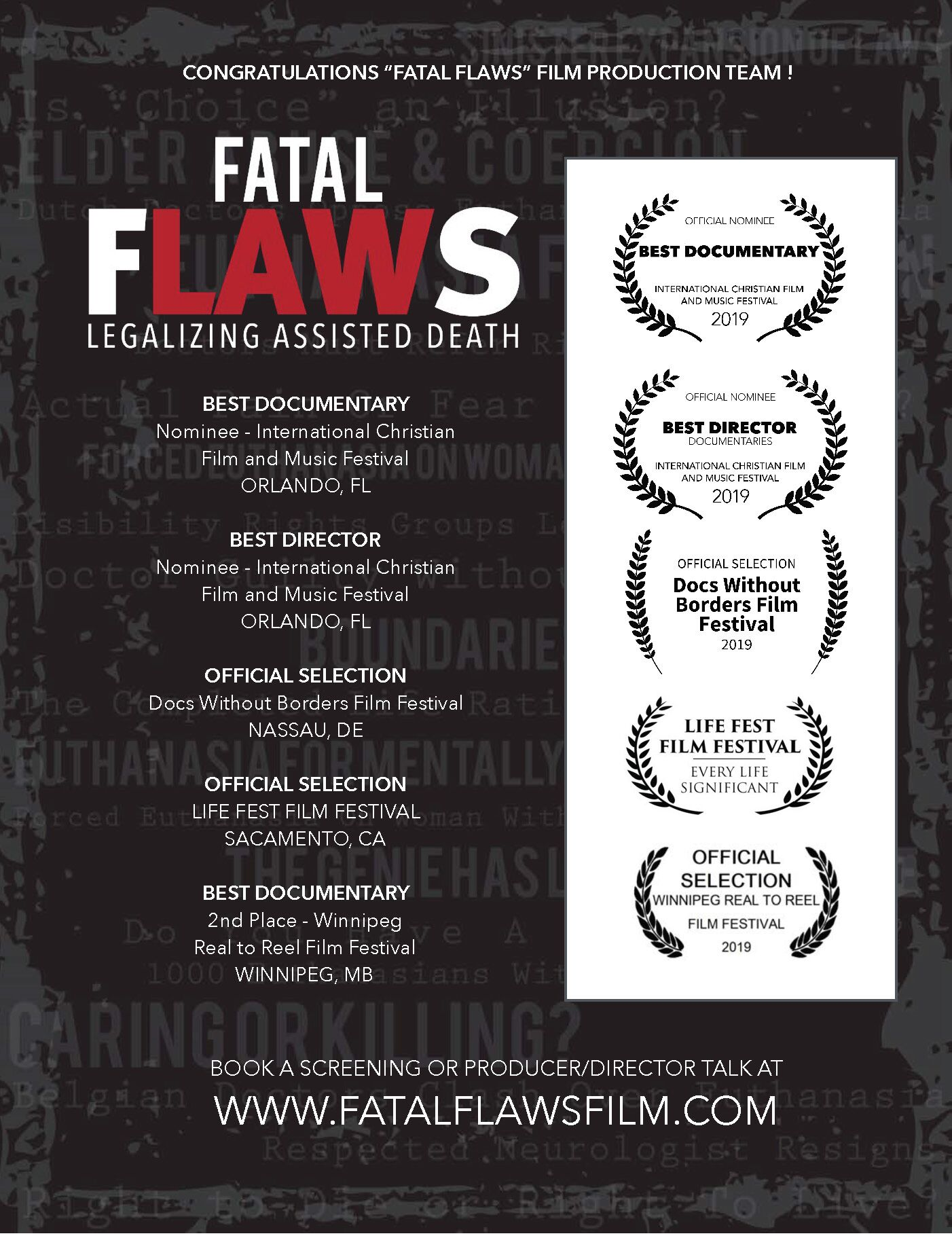 EWTN Presents 'Fatal Flaws: Legalizing Assisted Death'